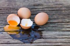 Eier gebrochen lizenzfreies stockbild