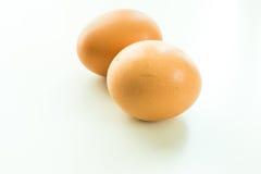 Eier getrennt auf weißem Hintergrund Stockfoto