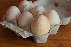 Eier im Behälter Stockbild