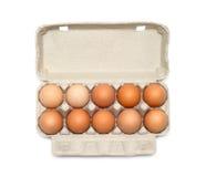 Eier im Kasten Lizenzfreies Stockfoto