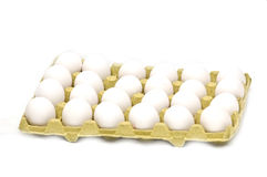 Eier im Kasten stockfotos