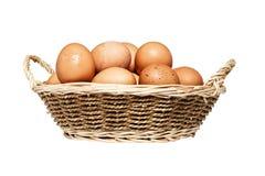 Eier im Korb Lizenzfreie Stockbilder