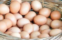 Eier im Korb für Verkauf lizenzfreie stockbilder