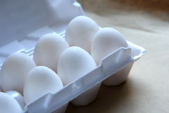 Eier im Paket Lizenzfreie Stockfotos