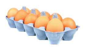 Eier im Paket Stockbilder