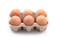 Eier im Paket Stockfotografie
