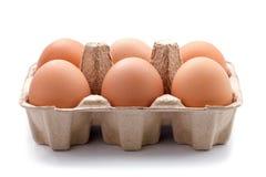 Eier im Paket Lizenzfreie Stockbilder