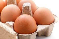 Eier im Paket Lizenzfreie Stockfotografie