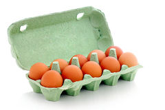 Eier im Paket Lizenzfreies Stockbild