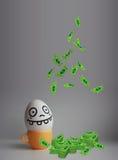 Eier mit Gesichtsfoto für Ihr Design Lizenzfreie Stockfotografie