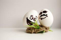 Eier sind lustige Mündungen Foto für Ihr Design Stockfoto