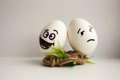 Eier sind lustige Mündungen Foto für Ihr Design Lizenzfreies Stockfoto