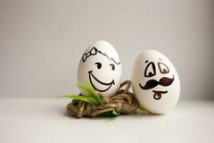 Eier sind lustige Mündungen Foto für Ihr Design Lizenzfreie Stockbilder