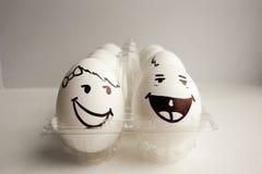 Eier sind lustige Mündungen Foto für Ihr Design Stockbild