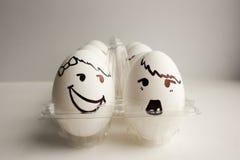 Eier sind lustige Mündungen Foto für Ihr Design Stockbilder
