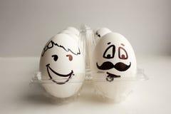 Eier sind lustige Mündungen Foto für Ihr Design Lizenzfreie Stockfotos