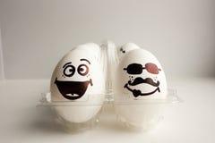 Eier sind lustige Mündungen Foto für Ihr Design Lizenzfreies Stockbild