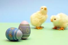 Eier und Küken stockfotos