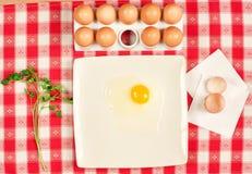 Eier und Petersilie Stockbilder