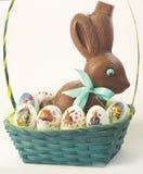 Eier und Schokolade Stockfoto