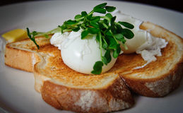 Eier und Toast Lizenzfreie Stockbilder