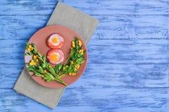 Eier von Wachteleiern Stockfotos