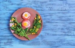 Eier von Wachteleiern Stockbild