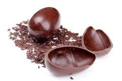 Eieren aan de smeltende chocolade Royalty-vrije Stock Afbeeldingen