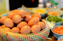 Eieren als ingrediënt Stock Afbeelding