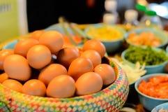 Eieren als ingrediënt in het koken Royalty-vrije Stock Fotografie