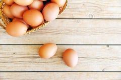 Eieren in de mand Royalty-vrije Stock Afbeelding