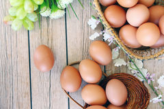 Eieren in de mand Royalty-vrije Stock Fotografie