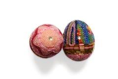 Eieren die met uiterst kleine parels worden verfraaid Royalty-vrije Stock Afbeeldingen