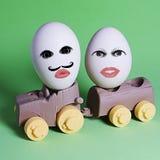 Eieren door auto Stock Afbeelding