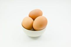 Eieren, Drie eieren Royalty-vrije Stock Foto