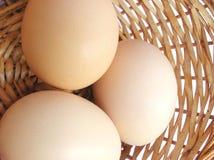 Eieren in een mand Royalty-vrije Stock Fotografie