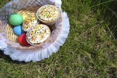 Eieren en muffins Royalty-vrije Stock Foto