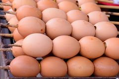 Eieren en toost van Thailand Stock Afbeelding
