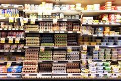 Eieren en zuivelproducten Stock Afbeeldingen