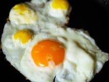 Eieren gebraden kippenkwartels royalty-vrije stock afbeelding