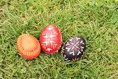Eieren in gras Stock Foto's