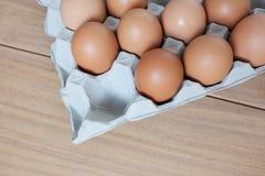 Eieren in het dienblad Royalty-vrije Stock Afbeelding