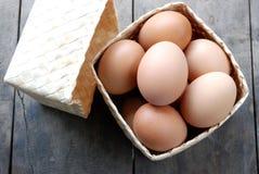 Eieren in het doosweefsel Royalty-vrije Stock Foto