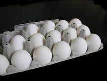 Eieren in het Karton Stock Afbeeldingen
