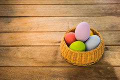 Eieren in het nest Royalty-vrije Stock Afbeeldingen