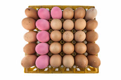 30 eieren in het pakket Royalty-vrije Stock Afbeeldingen