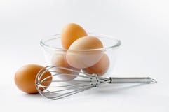 Eieren klaar voor gebakje stock fotografie