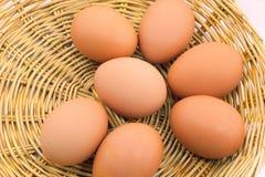 Eieren in mand Royalty-vrije Stock Fotografie