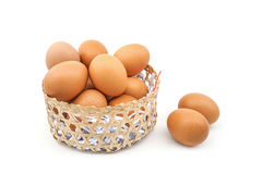 Eieren in mand Royalty-vrije Stock Foto's