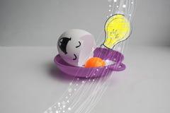 Eieren met gezicht Het concept het geven Stock Foto